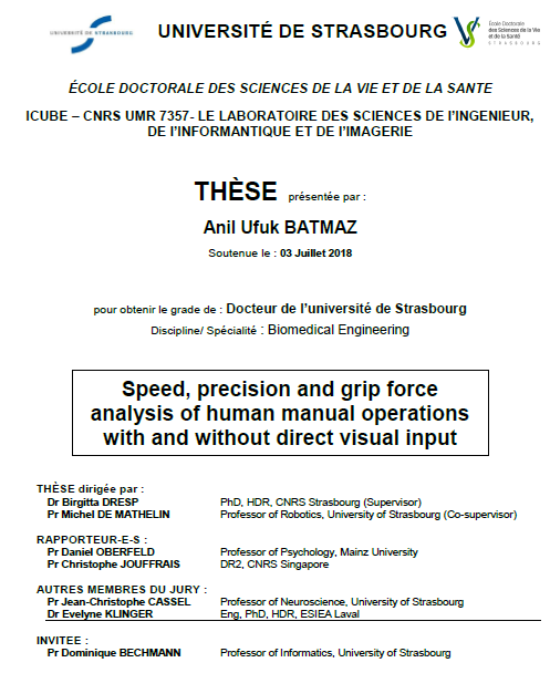Thesis cover page